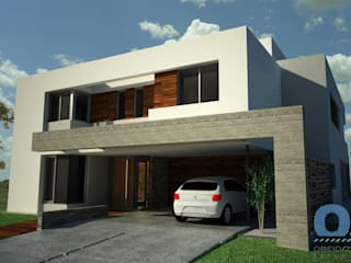 Casa Terralagos: Casas de estilo minimalista por OZestudioArq