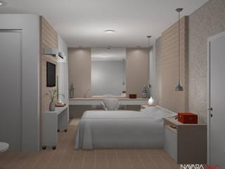 Projeto de interior para quarto de casal: Quartos  por Nayara Silva - Arquitetura e Urbanismo ,Moderno