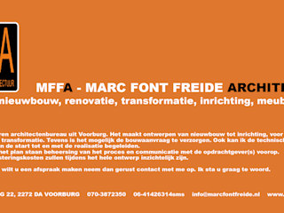 Flyer: moderne Huizen door Marc Font Freide Architectuur