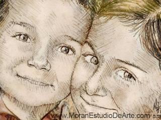 El brillo de sus ojos en el retrato familiar será un gran motivo.:  de estilo  por MORAN Estudio De Arte