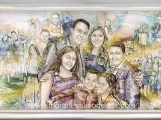 En el retrato familiar estarán presente sus momentos más especiales.:  de estilo  por MORAN Estudio De Arte