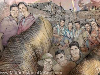 La familia y sus momentos especiales.:  de estilo  por MORAN Estudio De Arte