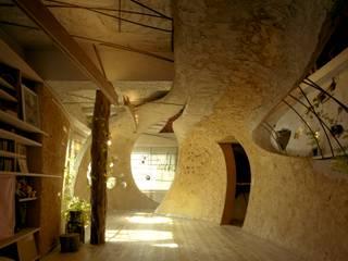 神田SU -ビルの中の土壁の家- / nest house オリジナルデザインの リビング の 遠野未来建築事務所 / Tono Mirai architects オリジナル