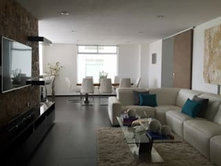 Sala: Salas de estilo minimalista por DL ARQUITECTURA