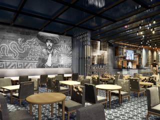 Diseño de Terraza Bar : Restaurantes de estilo  por DL ARQUITECTURA