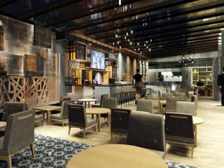 Diseño de Terraza Bar Gastronomía de estilo moderno de DL ARQUITECTURA Moderno