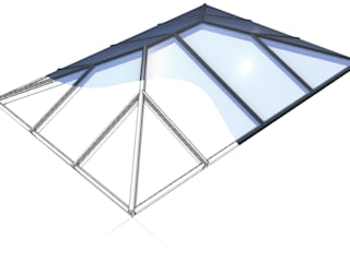 Aluminium Roof Lantern (Korniche): modern Conservatory by Premier Roof Systems