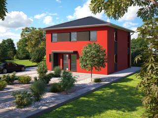 Eos 142 - Eingangsansicht: moderne Häuser von Bärenhaus GmbH - das fertige Haus