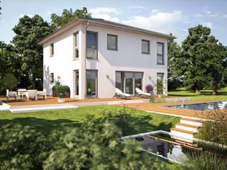 Eos 142 - Gartenansicht: moderne Häuser von Bärenhaus GmbH - das fertige Haus
