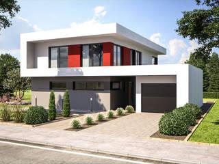 Fine Arts 209 - Eingangsansicht: moderne Häuser von Bärenhaus GmbH - das fertige Haus