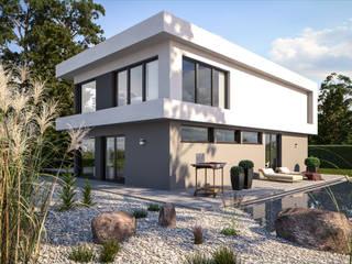 Fine Arts 209 - Gartenansicht: moderne Häuser von Bärenhaus GmbH - das fertige Haus