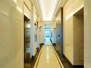 大理石美學 現代風玄關、走廊與階梯 根據 石聖石材 現代風