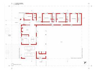 Vivienda 118. Barrio Alma Verde: Casas de estilo moderno por Estudio de Arquitectura Lucía Farías