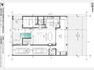 Vivienda La Emilia : Casas de estilo moderno por Estudio de Arquitectura Lucía Farías