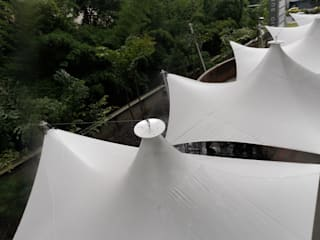 Bocanumenth Arquitectura Textilが手掛けた廊下 & 玄関, モダン