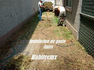 Instalación de Pasto y Jardinería :  de estilo  por Habitecmx