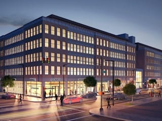 3d Architectural Exterior Rendering Pred Solutions Modern offices & stores by Pred Solutions Modern