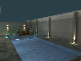 Modern pool by AJR ARQUITETURA Modern