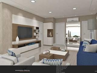 Apartamento N & C: Salas de estar  por Levolu Interiores e Arquitetura