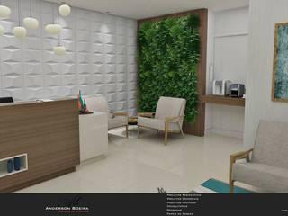 Clínica Odontológica: Salas de estar  por Levolú Interiores e Arquitetura,Moderno