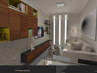 Studio 30m²: Salas de estar  por Levolú Interiores e Arquitetura,Moderno