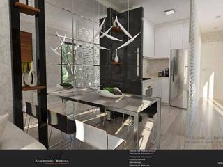 Studio 30m²: Salas de jantar  por Levolú Interiores e Arquitetura,Moderno
