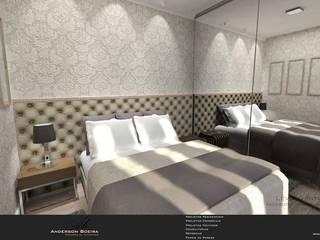 Studio 30m²: Quartos  por Levolú Interiores e Arquitetura,Moderno