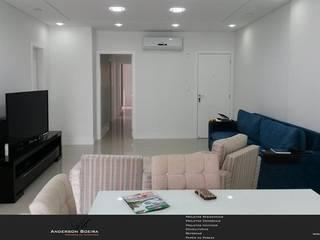 Apartamento N & C: Salas de estar  por Levolú Interiores e Arquitetura,Moderno