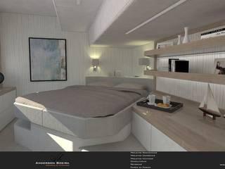 Catamarã 60 pés: Quartos  por Levolú Interiores e Arquitetura,Moderno