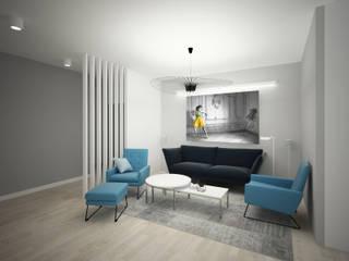 APARTAMENTY ROYAL, PIASECZNO: styl , w kategorii Salon zaprojektowany przez meinDESIGN