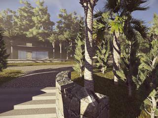 Detalle de escalinatas: Pasillos y recibidores de estilo  por Arq-G