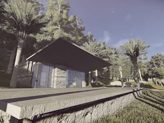 Terraza de Cabaña: Terrazas de estilo  por Arq-G