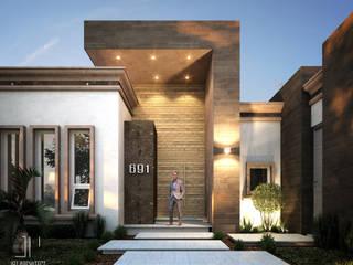 Detalle de acceso : Casas de estilo moderno por Juan Pedraza Arquitecto