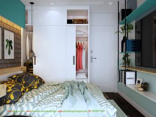 Thiết kế và thi công nội thất CHCC 1804 tòa nhà Imperia: hiện đại  by Công ty TNHH Thiết kế và Ứng dụng QBEST, Hiện đại