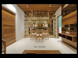 Sample House - Shahibaug:  Dining room by malvigajjar,Modern