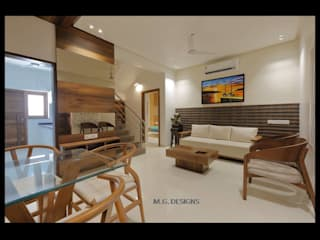 Sample House - Shahibaug:  Living room by malvigajjar,Modern