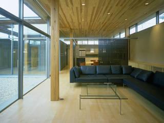 東谷山の住宅 アトリエ環 建築設計事務所 モダンデザインの リビング