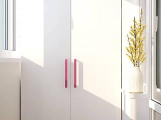 Minimalistischer Balkon, Veranda & Terrasse von Студия интерьерного дизайна happy.design Minimalistisch