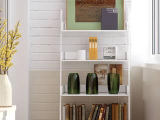 Varandas, marquises e terraços minimalistas por Студия интерьерного дизайна happy.design Minimalista