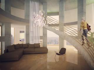 Salas de estilo industrial por Softarchitecture