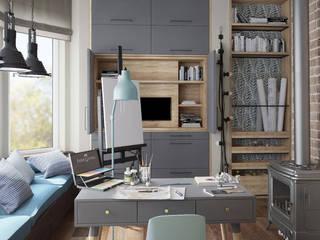 MIKOŁAJSKAstudio Modern Study Room and Home Office