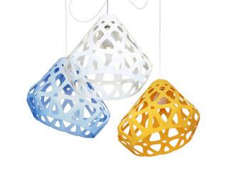 ZAHA LIGHT трехцветная трехрожковая люстра 4:  в . Автор – Spaces Bureau