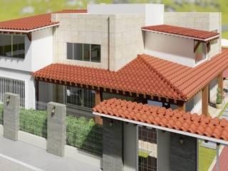 Vista aérea: Casas de estilo mediterraneo por IAD Arqutiectura