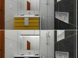 Projeto Banheiro: Banheiros  por Vinicius Gama,Moderno