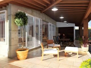 Corredores: Casas de estilo  por IAD Arqutiectura