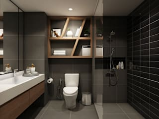 22Augustudio Modern Bathroom Ceramic Black