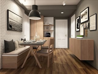 22Augustudio Modern Dining Room Wood Beige