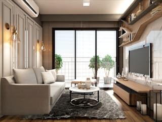 22Augustudio Modern living room Wood Beige