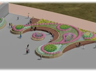 가드닝 프로젝트 - 2016. 고양시 호수공원 아시아스타일 정원 by 가든디자인 뜰(garden design 뜰) 한옥