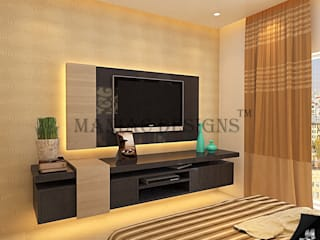 Bedroom Interior project Modern style bedroom by Maniac Designs Modern